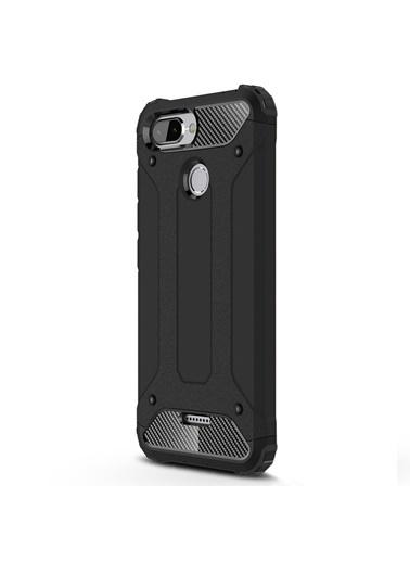 Microsonic Xiaomi Redmi 6 Kılıf Rugged Ar  Siyah
